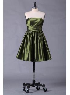 Green Short Cocktail Pub Dress