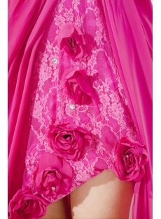 Hot Pink Sexy High-low Prom Dress