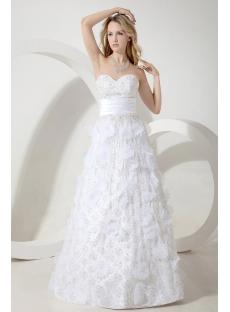 Informal Garden Wedding Dress with Floral