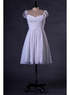 Ivory Chiffon Homecoming Dress with Ruffle