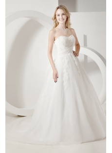 Ivory Fall Princess Bridal Gowns with Strapless