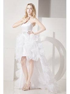Ivory High-low Beach Wedding Dresses Casual