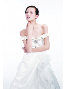 Ivory Off Shoulder Western Wedding Dress 2012