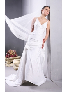 Ivory Simple Beach Flowy Wedding Dresses