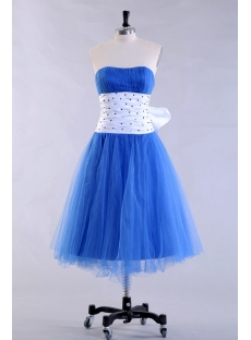 Junior Short Cocktail Party Dress with Bow