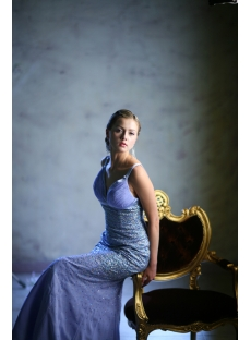 Lavender Plung V-Neckline Plus Size Evening Dresses