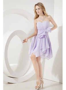 Lavender Romantic Chiffon Junior Prom Dress