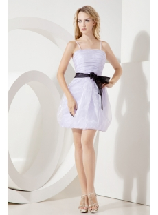 Lavender Simple Homecoming Dress with Straps