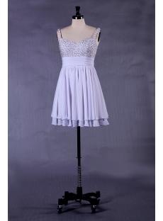 Lavender Straps Short Plus Size Prom Dresses