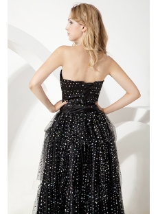 Little Black Cocktail Party Dress with Detachable Train
