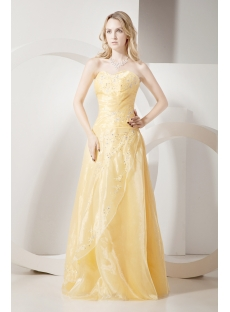 Long Daffodil Quinceanera Dresses Cheap 2012