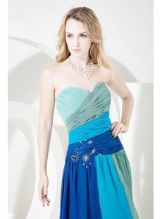 Long Modern Colorful Evening Dress