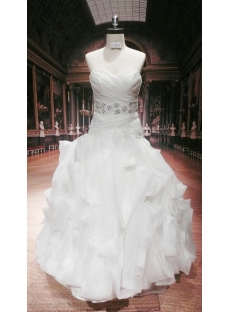 Low Waist Plus Size Elegant Bridal Gown