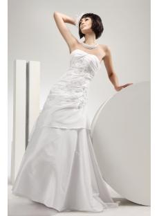Mature Bride Destination Wedding Dresses with Lace up
