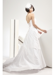 Mature Bride Destination Wedding Dresses with Lace up
