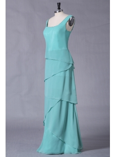 Modest Teal Long Mother of Bride
