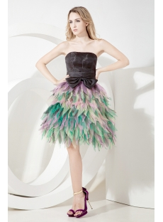 Mystique Tea Length Colorful Quinceanera Dress