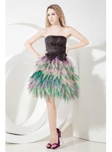 Mystique Tea Length Colorful Quinceanera Dress