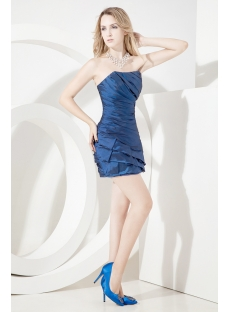 Navy Blue Mini Cocktail Dress with Sweetheart