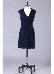 Navy Blue Short Chiffon Mini Homecoming Dresses