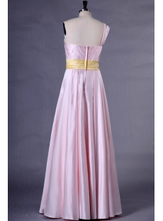 Pearl Pink Pretty Plus Size Prom Dresses with One Shoulder
