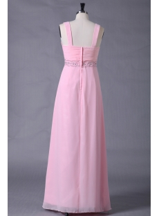 Pink Chiffon Plus Size Formal Ball Dresses
