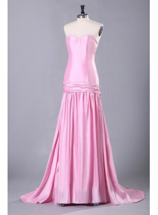 Pink Military Party Dress with Drop Waist