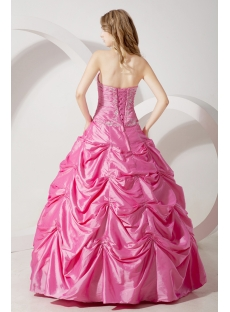 Pink Strapless Princess Quinceanera Gown 2012