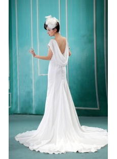 Pretty Beach Bridal Gown with Open Back