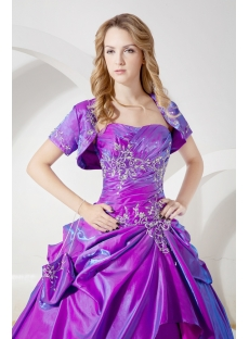 Purple Best Quinceanera Dress with Short Jacket