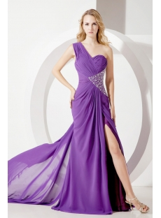 Purple Long Celebrity Cocktail Dresses