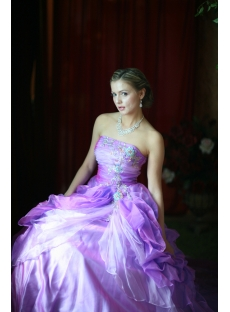 Purple Princess Quinceanera Dresses with Lace up
