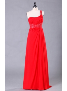 Red Long Open Back Sexy Evening Dress with Sweep Train