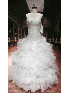 Romantic Plus Size Ball Gown Wedding Dress with Corset