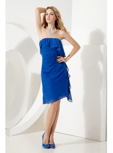 Romantic Royal Blue Short Cocktail Dress