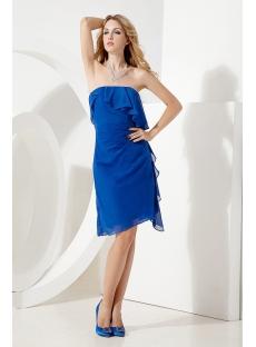 Romantic Royal Blue Short Cocktail Dress