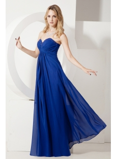 Royal Blue Long Chiffon Maternity Evening Dresses