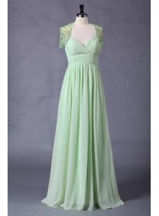 Sage Chiffon Spring Plus Size Dresses