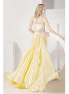 Short Yellow Sweet Sixteen Dress with Detachable Train