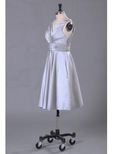 c282b9a263e3 Silver Short Formal Evening Dress with Tea Length:1st-dress.com