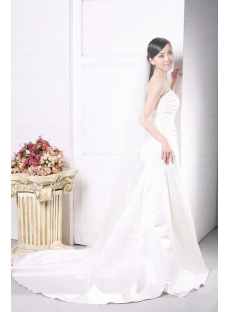 Simple Garden Wedding Dress for Slim Women