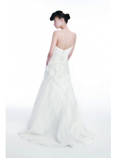 Simple Spring 2012 Wedding Dress with Strap