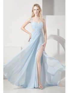 Sky Blue Sexy Evening Dress for Summer