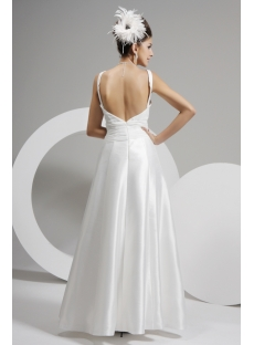 Straps Beach Bridal Gown with Open Back