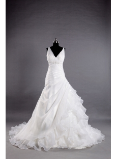 Straps Sophisticated Elegant Wedding Dresses 2013