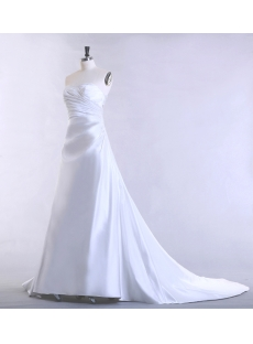Sweetheart Simple Mature Bridal Gown with A-line