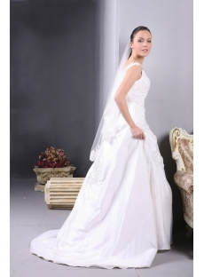 Taffeta Long Vintage Wedding Dress for Plus Size