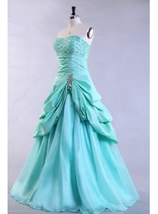 teal blue pretty plus size quince gown with corset1st