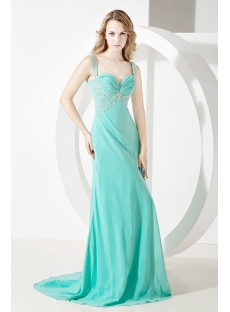 Teal Long Graduation Dresses Plus Size