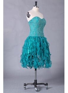 Teal Plus Size Short Quinceanera Dresses with Sweetheart